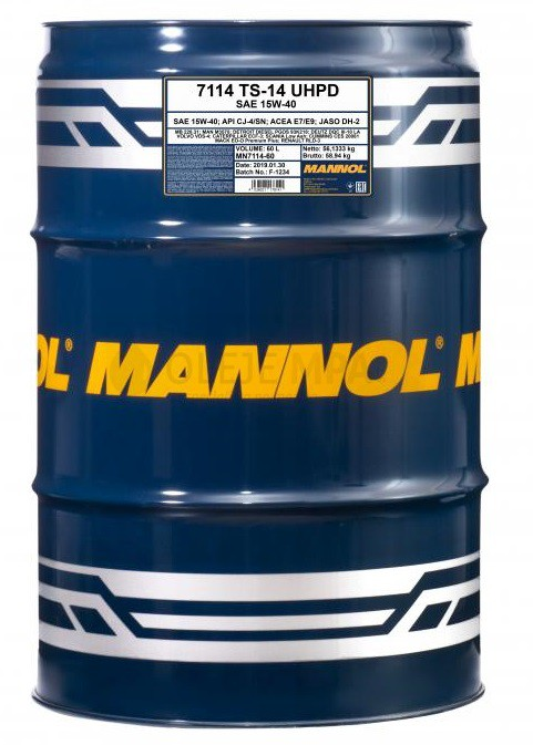 Motorový olej 15W-40 UHPD Mannol TS-14 - 60 L