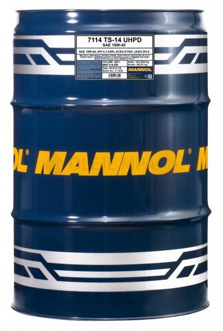 Motorový olej 15W-40 UHPD Mannol TS-14 - 208 L - 15W-40