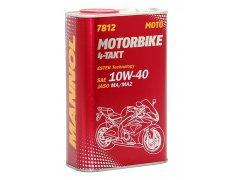 Motorový olej 10W-40 Mannol 7812 4-Takt Motorbike - 1 L Motocyklové oleje - Motorové oleje pro 4-taktní motocykly