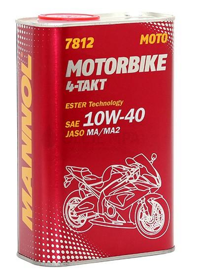 Motorový olej 10W-40 Mannol 7812 4-Takt Motorbike - 1 L - Motorové oleje pro 4-taktní motocykly