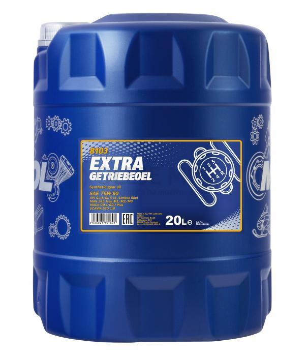 Převodový olej 75W-90 Mannol Extra Getriebeoel - 10 L - Oleje 75W-90