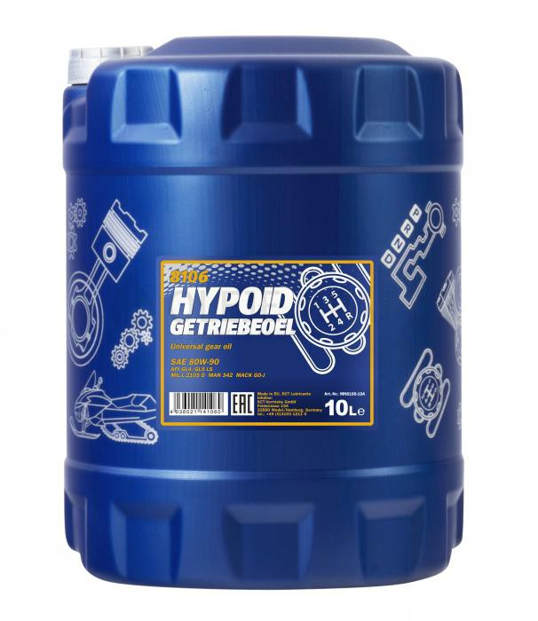 Převodový olej 80W-90 Mannol Hypoid Getriebeoel - 10 L - Oleje 80W-90