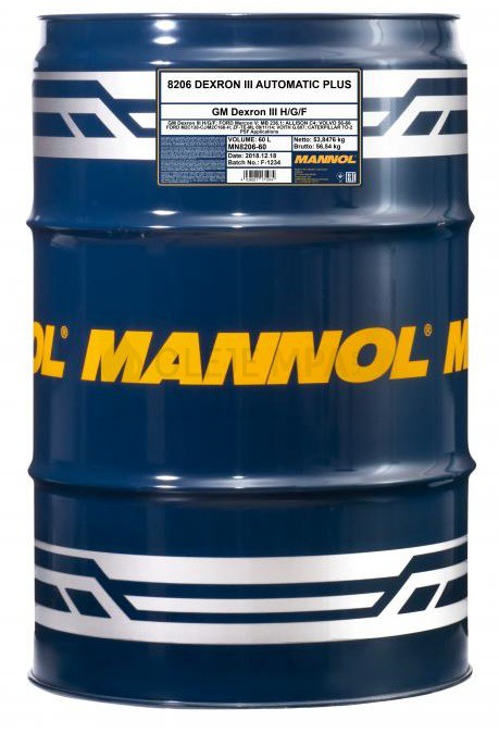 Převodový olej Mannol Dexron III Automatic Plus - 60 L - Oleje GM DEXRON III
