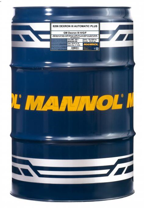 Převodový olej Mannol Dexron III Automatic Plus - 208 L - Oleje GM DEXRON III