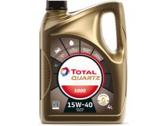 Motorový olej 15W-40 Total Quartz 5000 - 4 L Motorové oleje - Motorové oleje pro osobní automobily - Oleje 15W-40