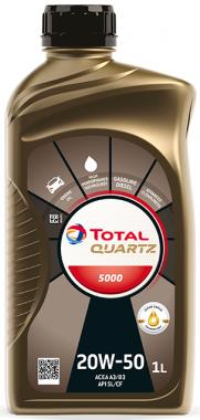 Motorový olej 20W-50 Total Quartz 5000 - 1 L - Oleje 20W-50