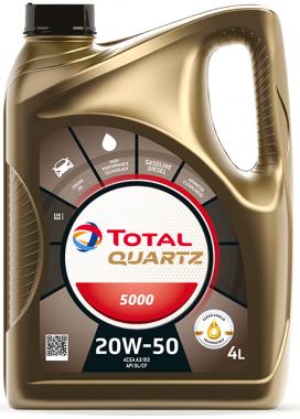 Motorový olej 20W-50 Total Quartz 5000 - 4 L - Oleje 20W-50