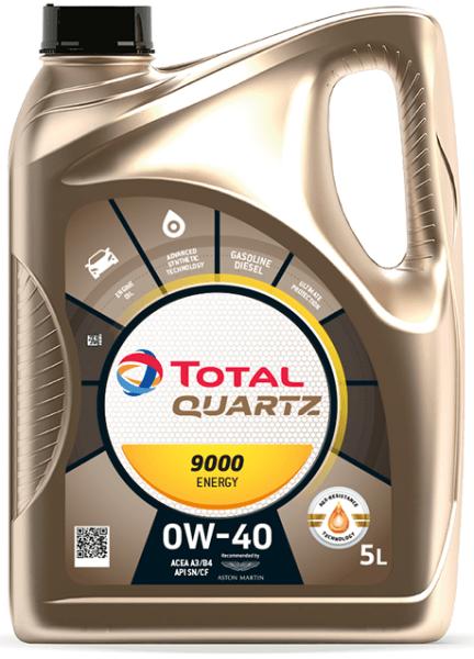 Motorový olej 0W-40 Total Quartz ENERGY 9000 - 5 L