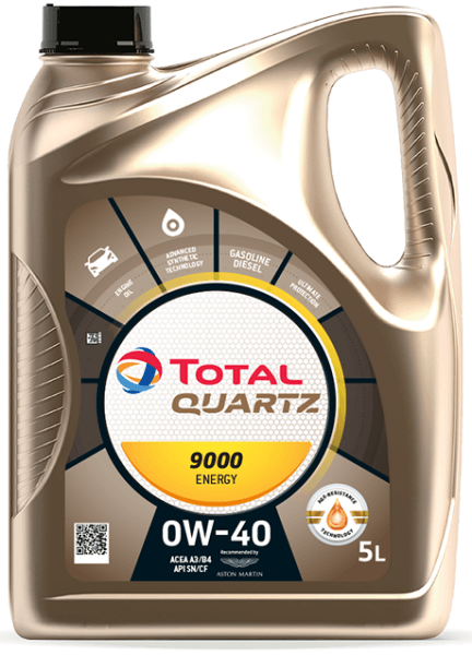 Motorový olej 0W-40 Total Quartz ENERGY 9000 - 5 L - Oleje 0W-40
