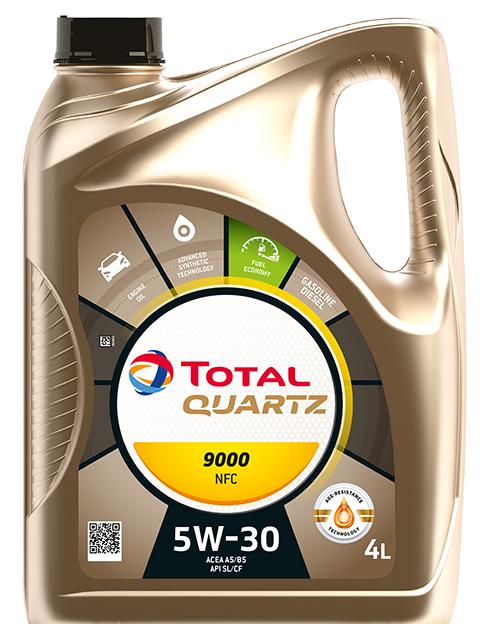 Motorový olej 5W-30 Total Quartz 9000 NFC - 4 L - Oleje 5W-30
