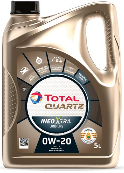 Motorový olej 0W-20 Total Quartz INEO Xtra Long Life - 5 L