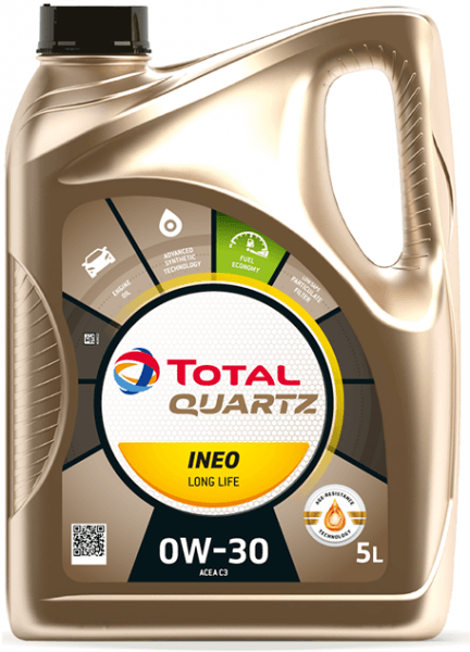 Motorový olej 0W-30 Total Quartz INEO LONG LIFE - 5 L