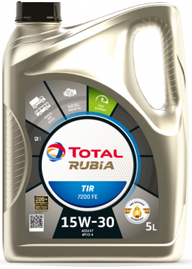 Motorový olej 15W-30 Total Rubia TIR 7200 FE  - 5 L