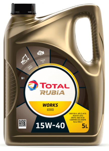 Motorový olej 15W-40 SHPD Total Rubia Works 1000 - 5 L