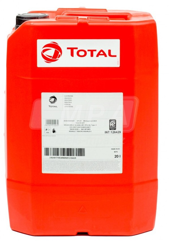 Motorový olej 10W-40 Total Rubia Works 2000 - 20 L