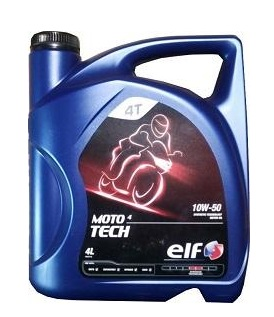 Motocyklový olej 10W-50 Elf Moto 4 Tech - 4 L - Motorové oleje pro 4-taktní motocykly