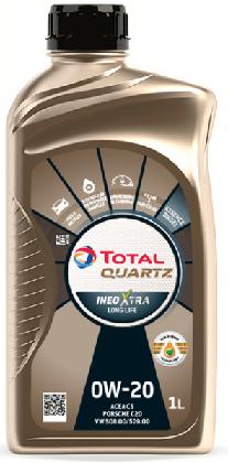 Motorový olej 0W-20 Total Quartz INEO Xtra Long Life - 1 L - Oleje 0W-20