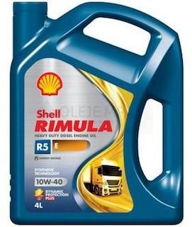 Motorový olej 10W-40 Shell Rimula R5 E - 4 L - 10W-40