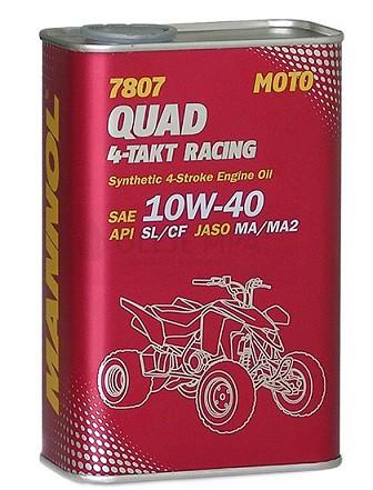 Motocyklový olej 10W-40 Mannol QUAD 4T RACING 7807 - 1 L - Motorové oleje pro 4-taktní motocykly