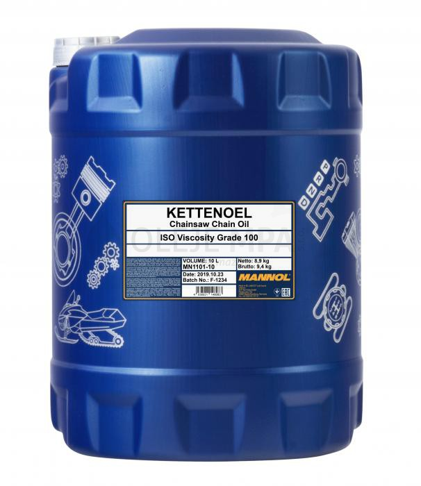 Minerální olej pro pily Mannol Kettenoel - 10 L