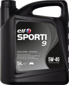 Motorový olej ELF Sporti 9 5W-40 - 5 L - Oleje 5W-40