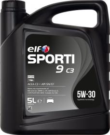 Motorový olej ELF Sporti 9 C3 5W-30 - 5 L - Oleje 5W-30