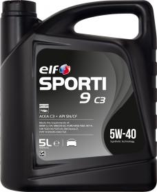 Motorový olej ELF Sporti 9 C3 5W-40 - 5 L - Oleje 5W-40