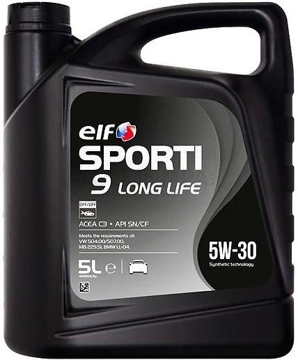 Motorový olej ELF Sporti 9 Long Life 5W-30 - 5 L - Oleje 5W-30