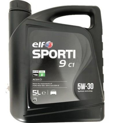 Motorový olej ELF Sporti 9 C1 5W-30 - 5 L - Oleje 5W-30