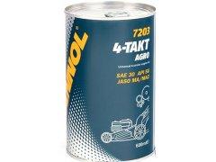 Motorový olej 4-Takt Mannol Agro SAE 30 - 0,6 L Oleje pro zemědělské stroje - Oleje pro sekačky, motorové pily a další zemědělské stroje