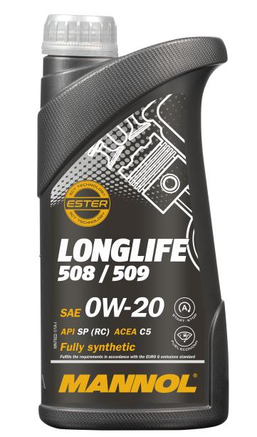 Motorový olej 0W-20 Mannol 7722 Longlife 508/509 - 1 L - Oleje 0W-20