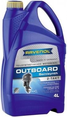 Motorový olej pro lodě Ravenol Outboardoel Teilsynth 2T - 4 L