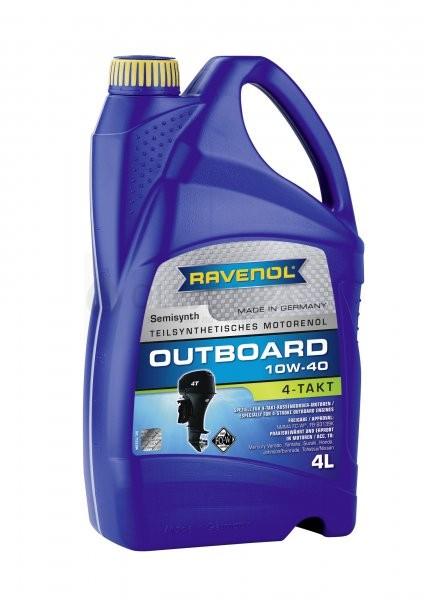 Motorový olej pro lodě Ravenol Outboardoel 4T 10W-40 - 4 L