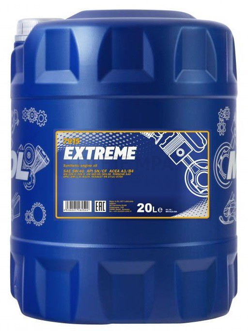 Motorový olej 5W-40 Mannol Extreme - 20 L - Oleje 5W-40