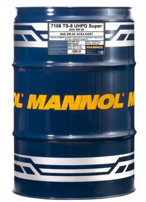 Motorový olej 5W-30 UHPD Mannol TS-8 Super - 60 L - 5W-30