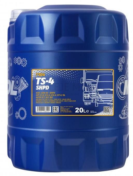 Motorový olej 15W-40 SHPD Mannol TS-4 Extra - 20 L