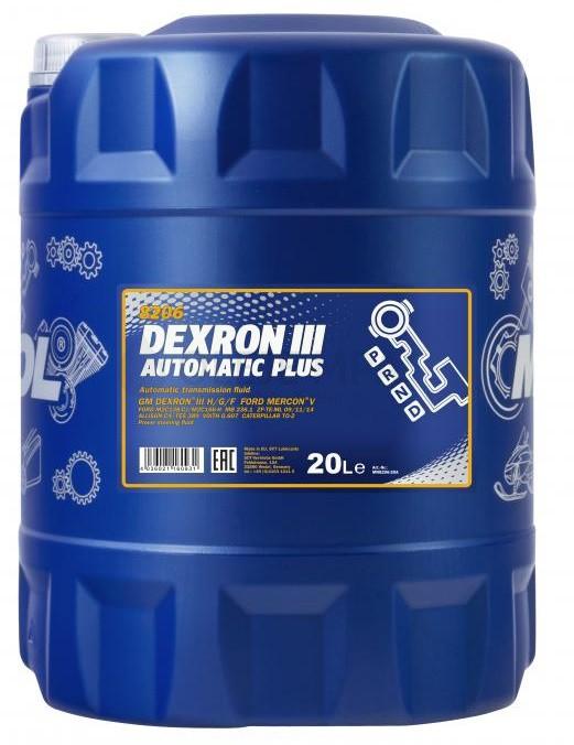 Převodový olej Mannol Dexron III Automatic Plus - 20 L - Oleje GM DEXRON III