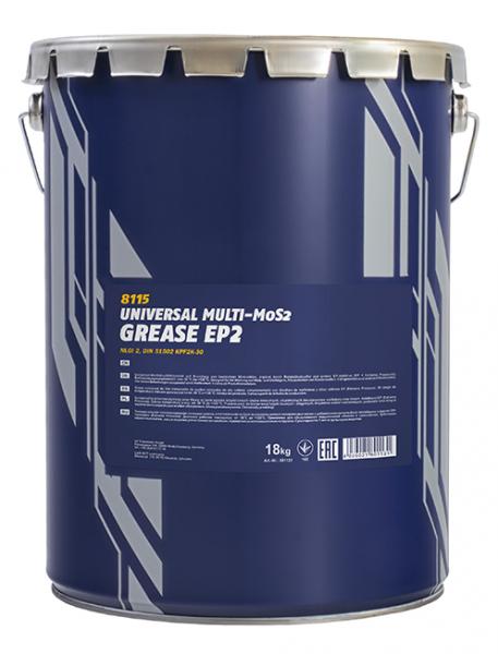 Vazelína Mannol Multi-MoS2 Grease EP 2 - 18 KG - Třída NLGI 2
