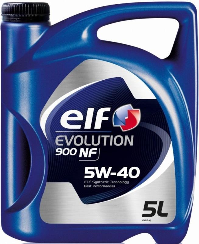 Motorový olej 5W-40 Elf Evolution 900 NF - 5 L - Oleje 5W-40
