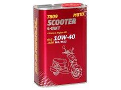 Motocyklový olej 10W-40 Mannol 4-Takt Scooter 7809 - 1 L Motocyklové oleje - Motorové oleje pro 4-taktní motocykly