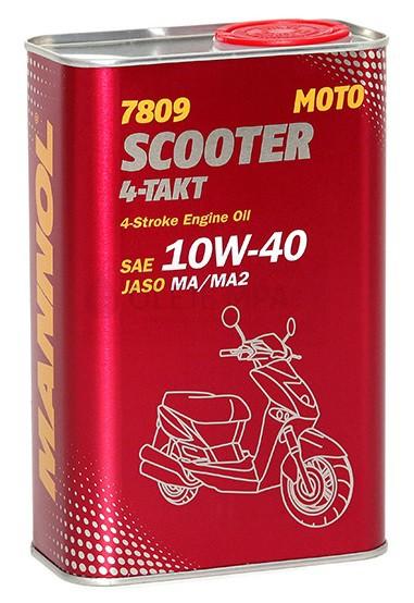 Motocyklový olej 10W-40 Mannol 4-Takt Scooter 7809 - 1 L - Motorové oleje pro 4-taktní motocykly